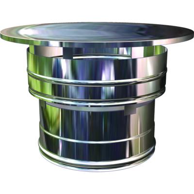 chapeau anti refouleur conduit double paroi isol e 150 180 200. Black Bedroom Furniture Sets. Home Design Ideas